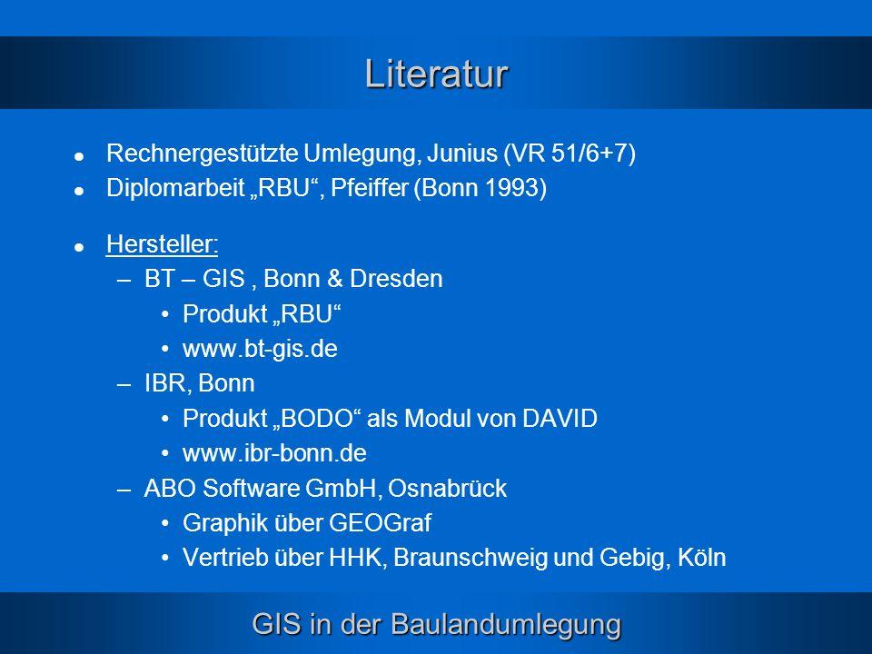 Literatur Rechnergestützte Umlegung, Junius (VR 51/6+7)