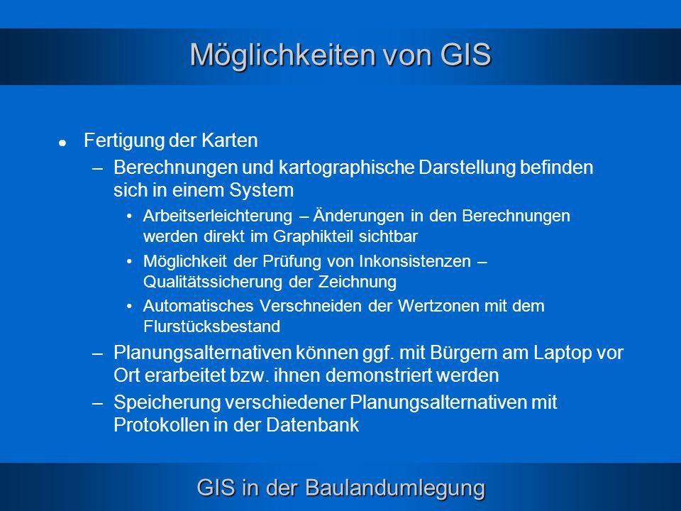 Möglichkeiten von GIS Fertigung der Karten