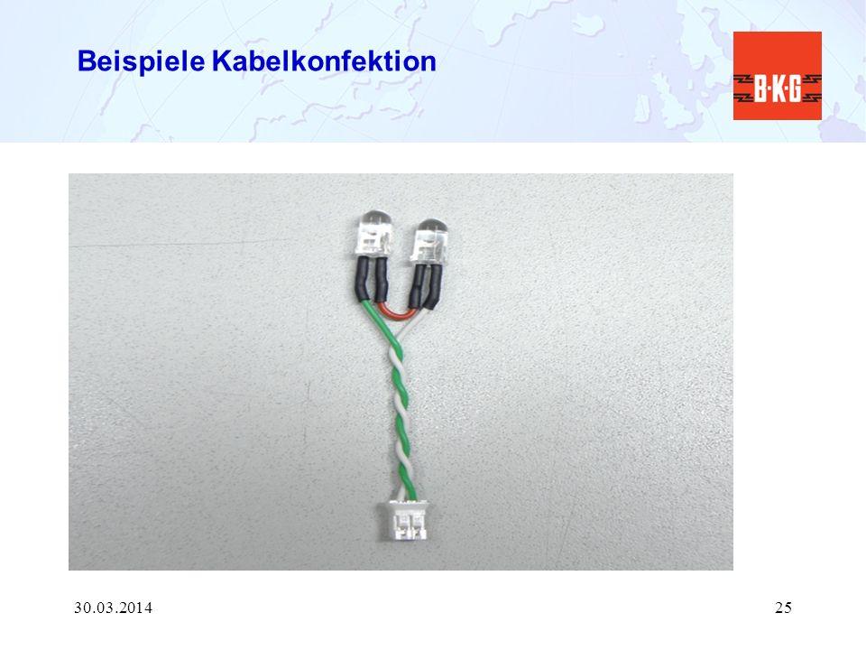 Beispiele Kabelkonfektion