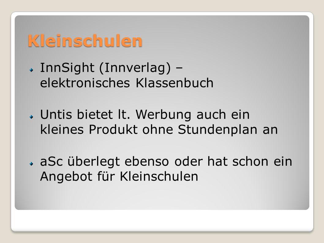 Kleinschulen InnSight (Innverlag) – elektronisches Klassenbuch