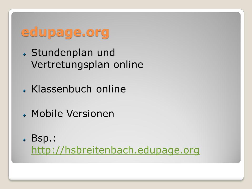 edupage.org Stundenplan und Vertretungsplan online Klassenbuch online