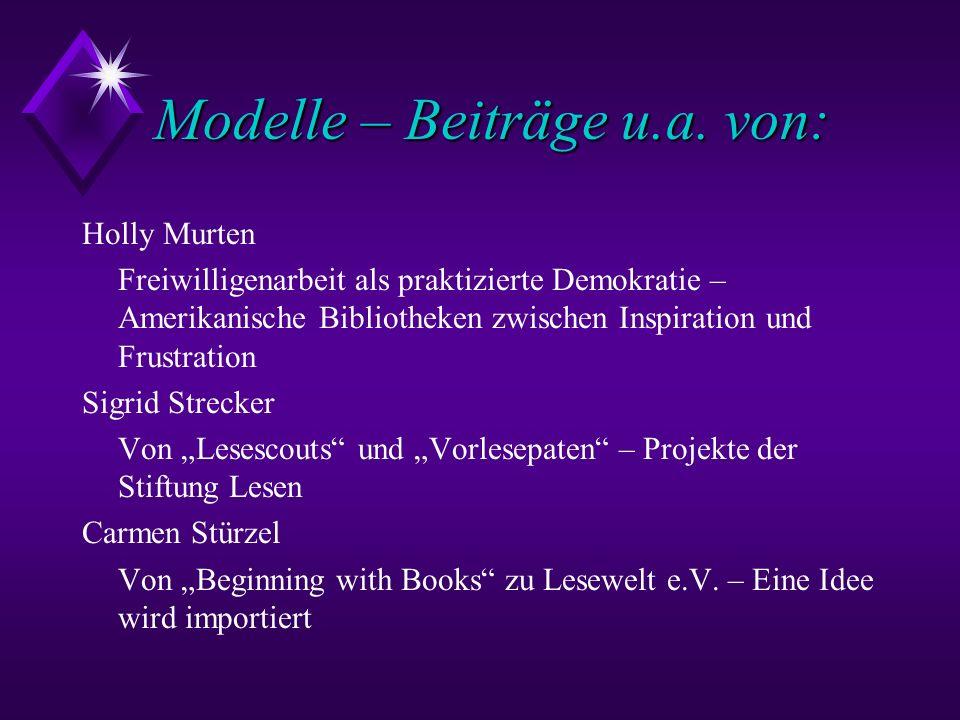 Modelle – Beiträge u.a. von: