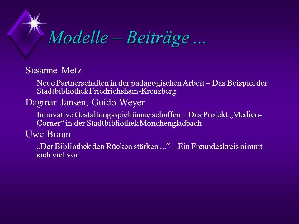 Modelle – Beiträge ... Susanne Metz