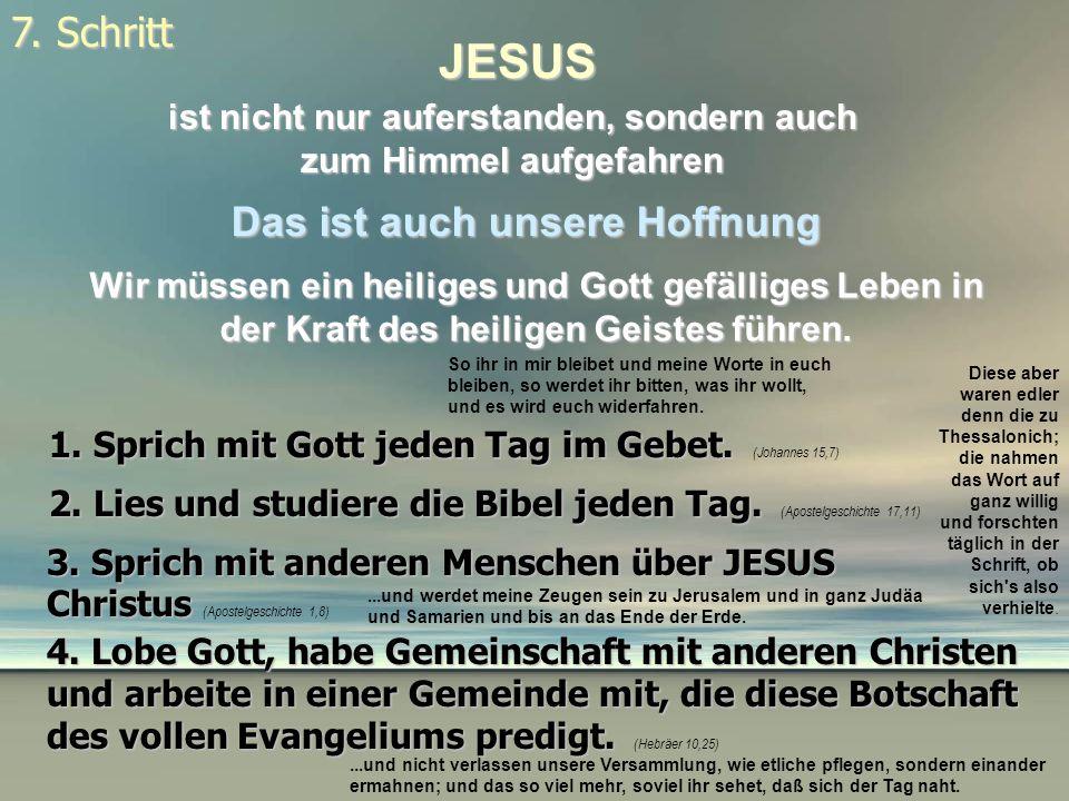 JESUS 7. Schritt Das ist auch unsere Hoffnung