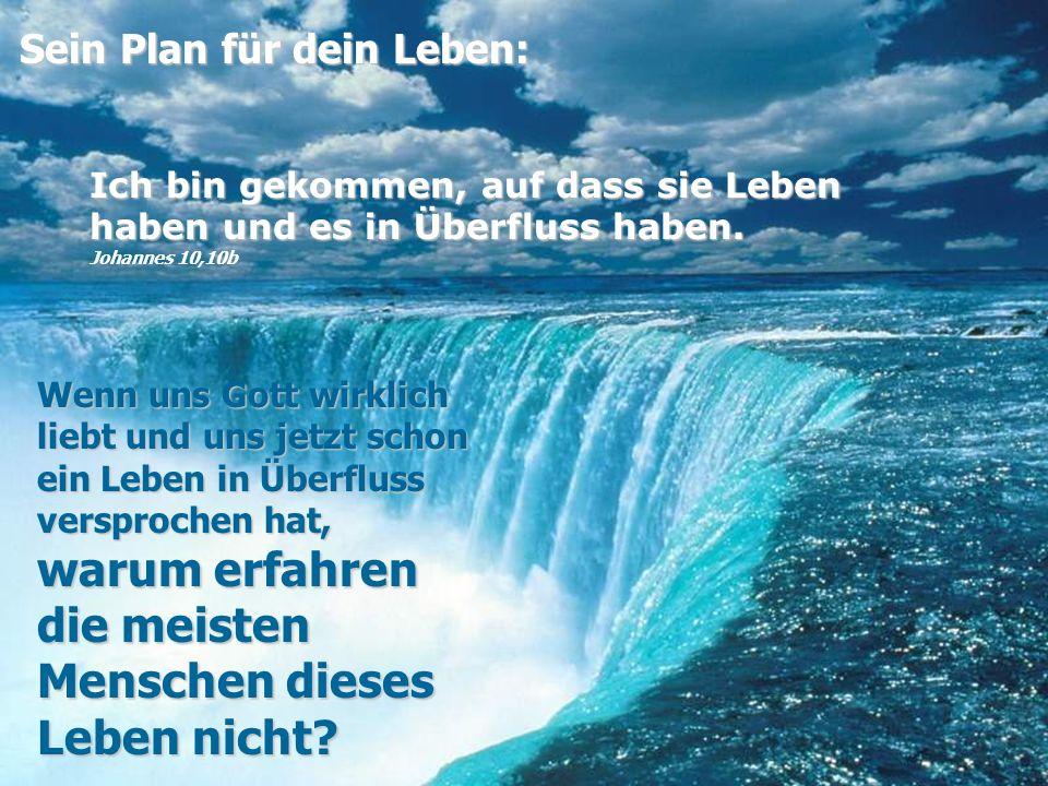 Sein Plan für dein Leben: