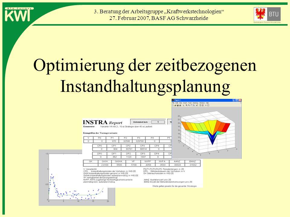 Optimierung der zeitbezogenen Instandhaltungsplanung
