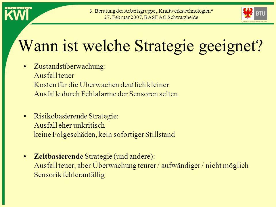 Wann ist welche Strategie geeignet
