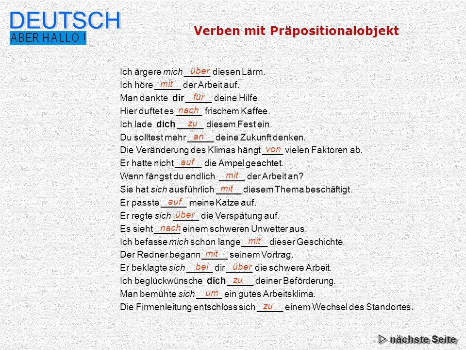 wichtige deutsche verben