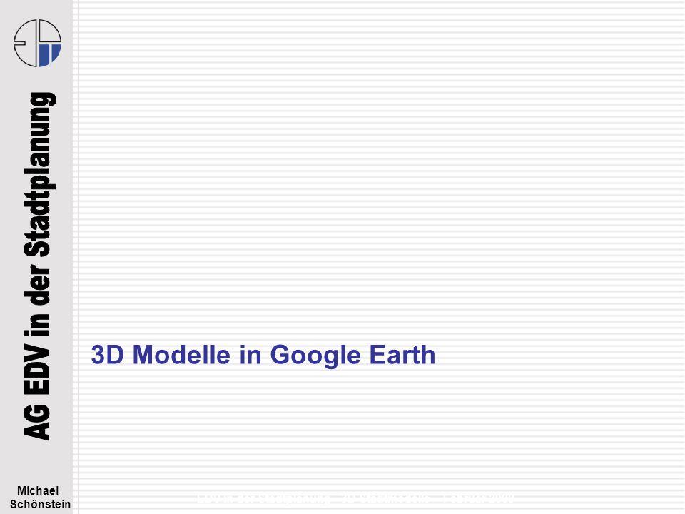 3D Modelle in Google Earth