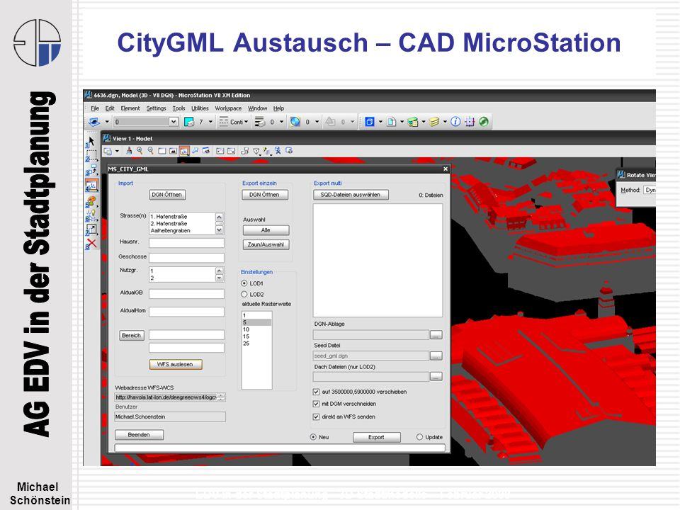 CityGML Austausch – CAD MicroStation