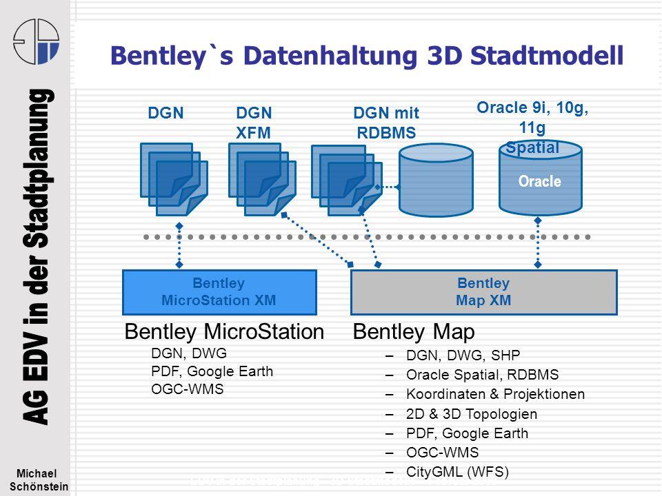 Bentley`s Datenhaltung 3D Stadtmodell
