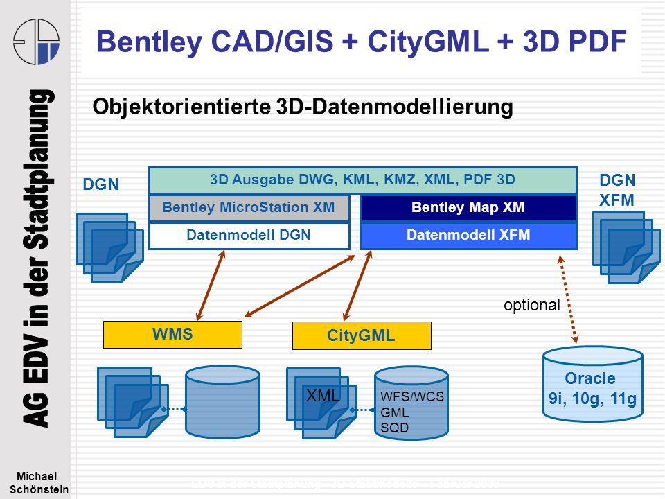 Bentley CAD/GIS + CityGML + 3D PDF