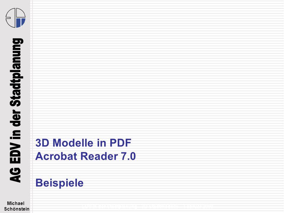 3D Modelle in PDF Acrobat Reader 7.0 Beispiele