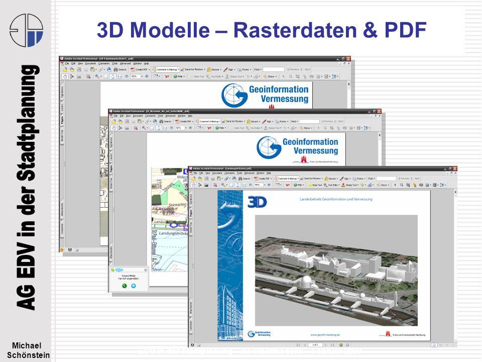 3D Modelle – Rasterdaten & PDF