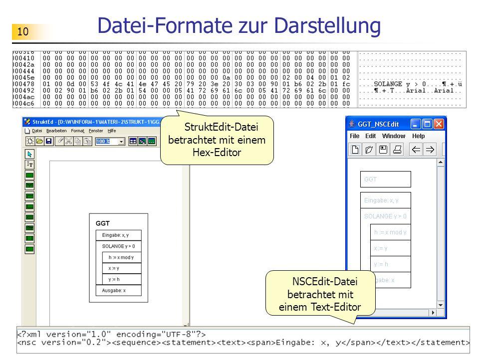 Datei-Formate zur Darstellung