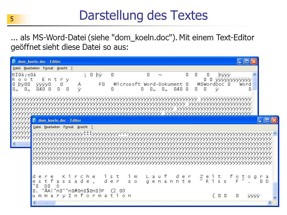 Darstellung des Textes