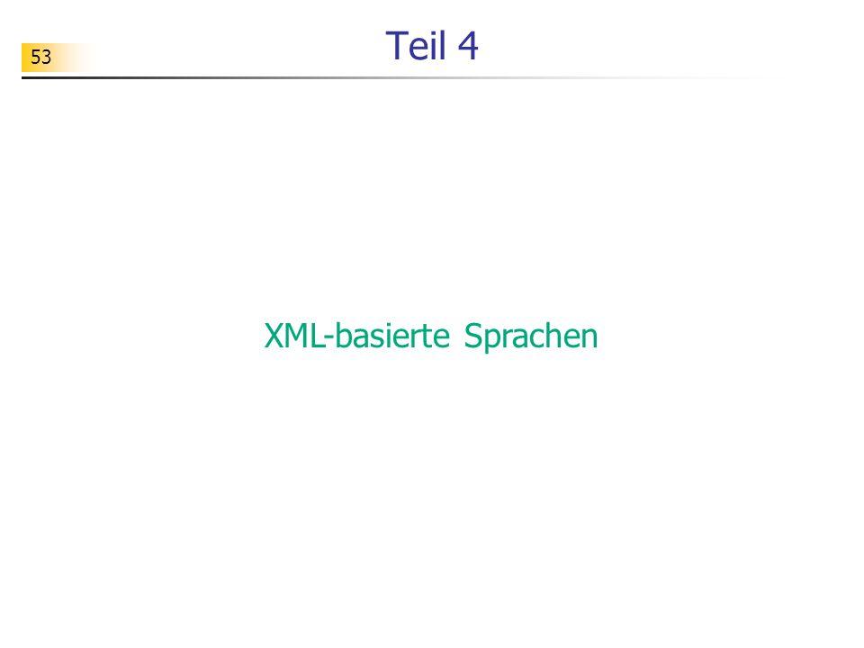 XML-basierte Sprachen