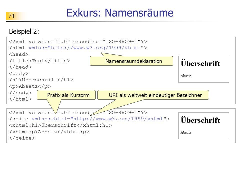 Exkurs: Namensräume Beispiel 2: