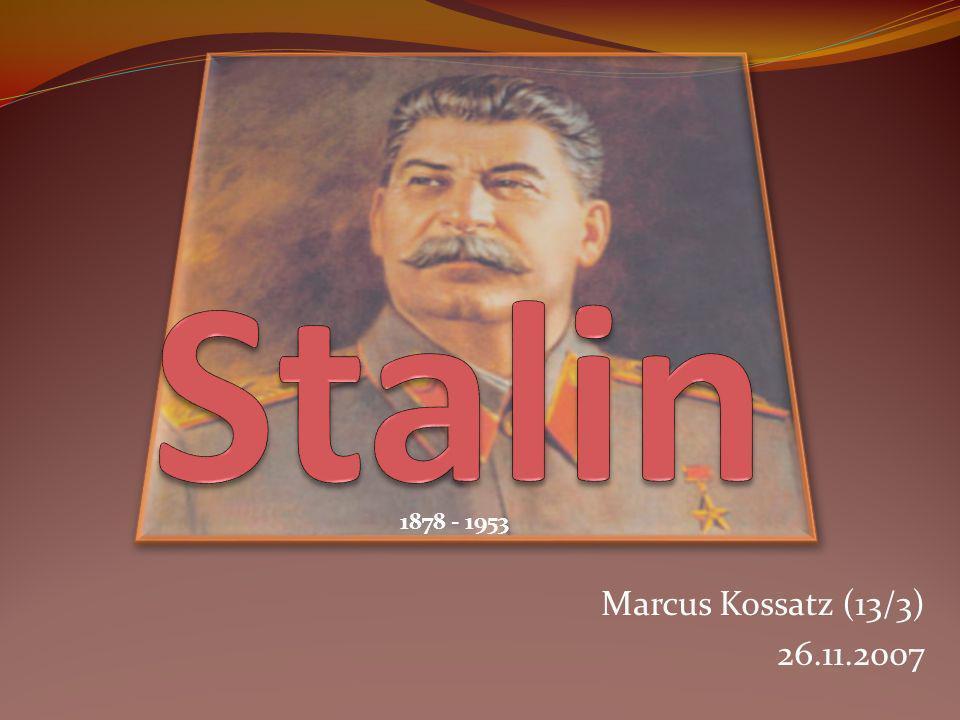 Stalin 1878 - 1953 Marcus Kossatz (13/3) 26.11.2007