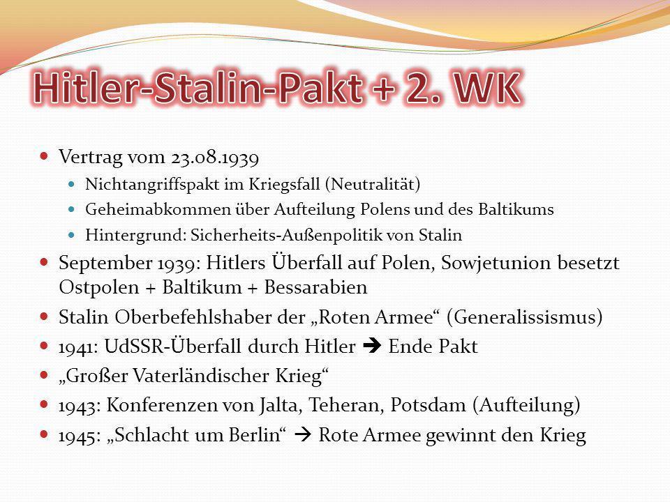Hitler-Stalin-Pakt + 2. WK