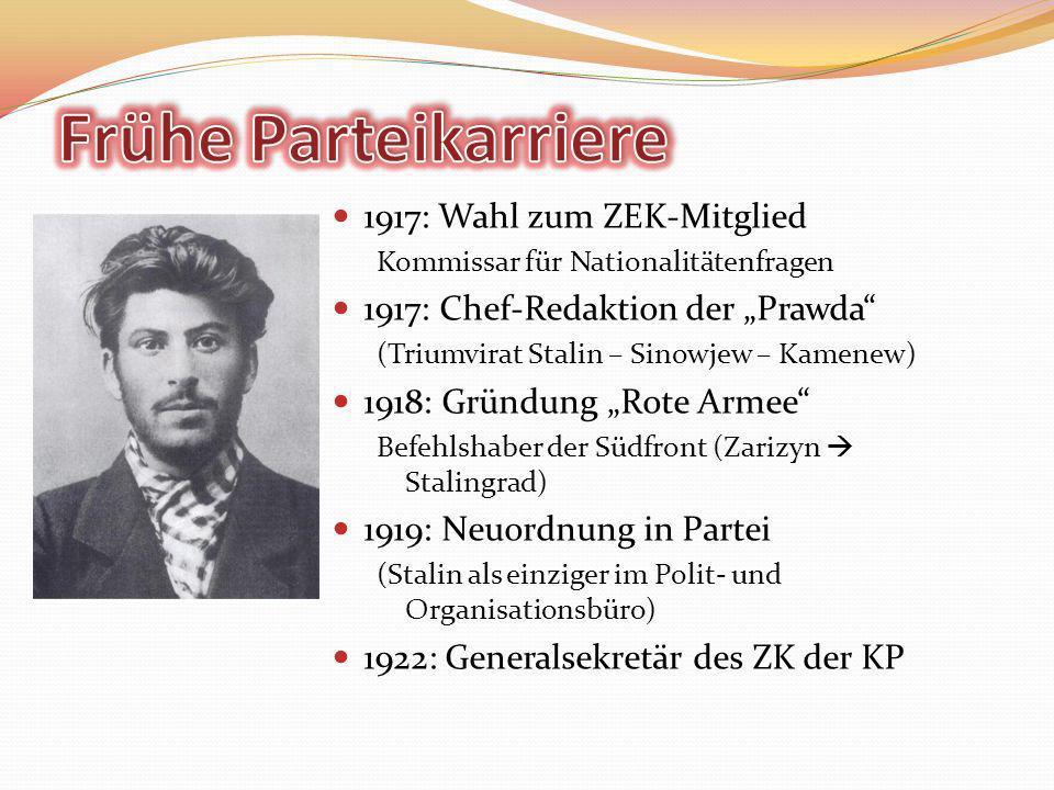 Frühe Parteikarriere 1917: Wahl zum ZEK-Mitglied