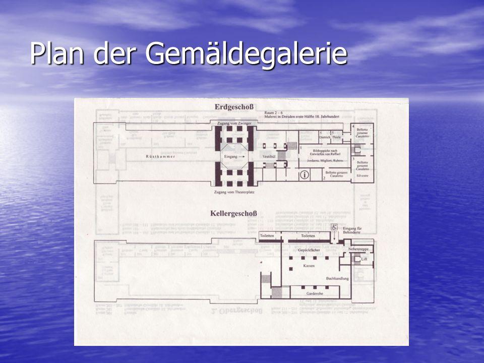 Plan der Gemäldegalerie