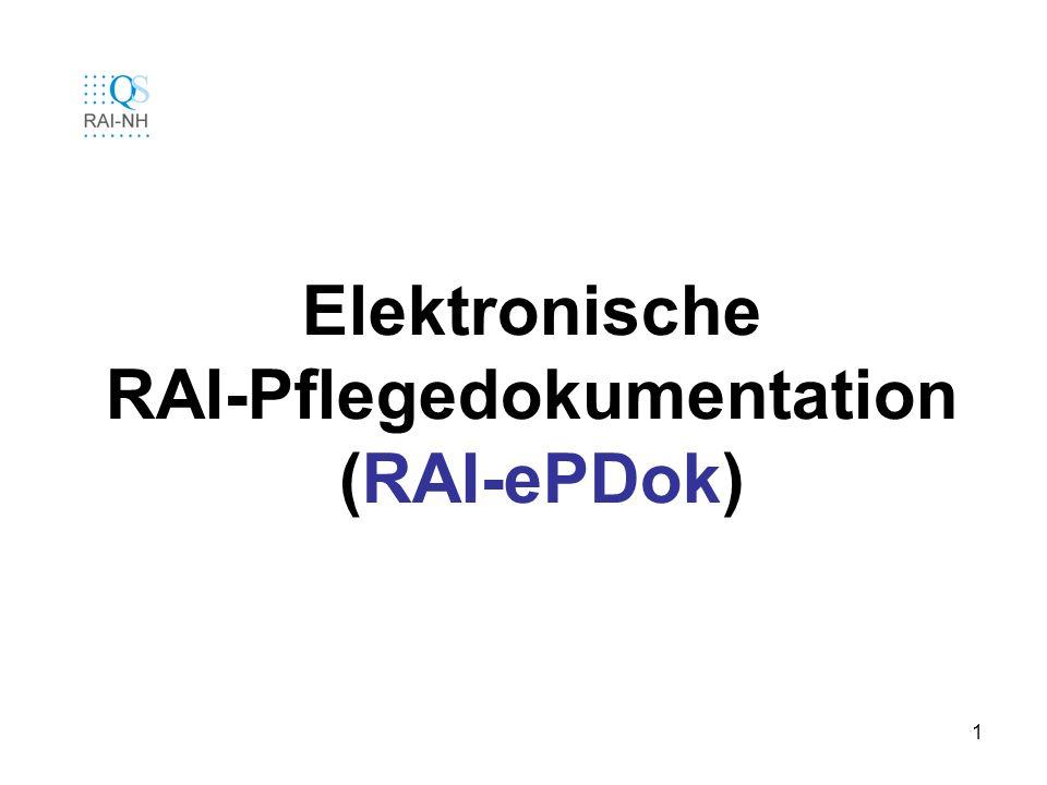 Elektronische RAI-Pflegedokumentation (RAI-ePDok)