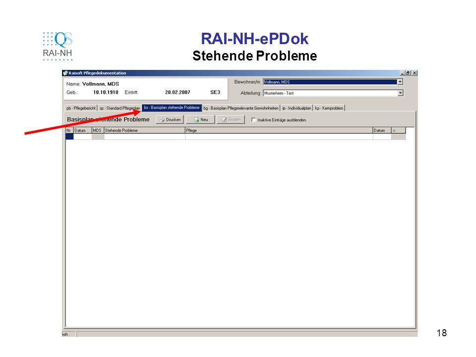 RAI-NH-ePDok Stehende Probleme
