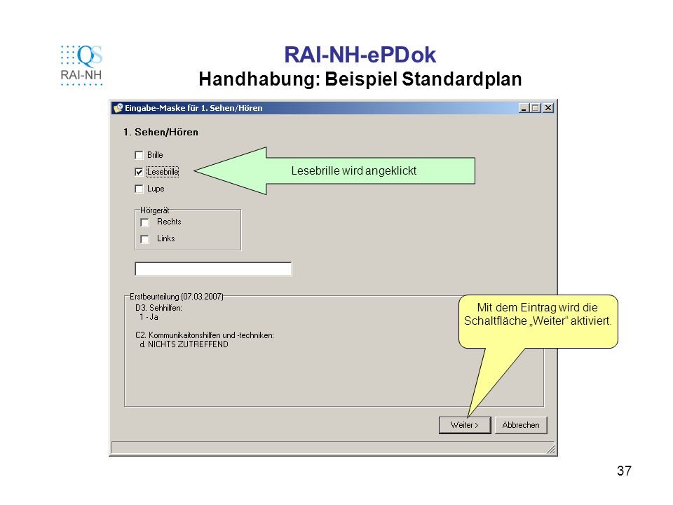 RAI-NH-ePDok Handhabung: Beispiel Standardplan