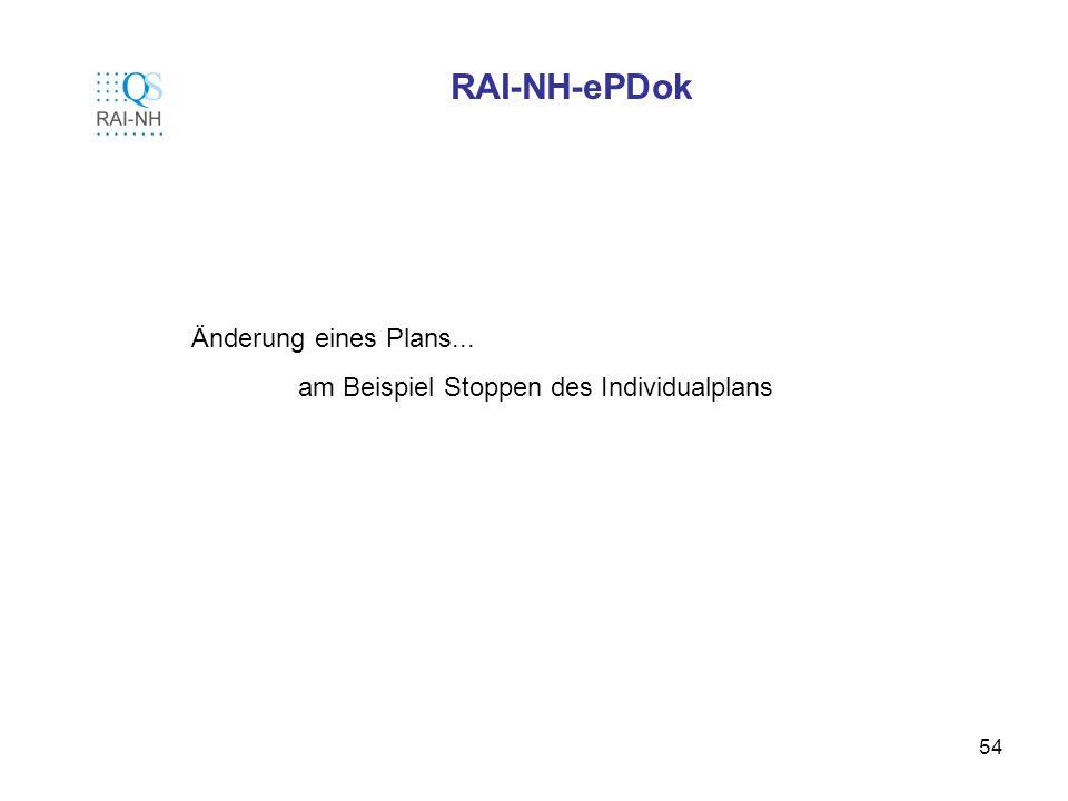 RAI-NH-ePDok Änderung eines Plans...