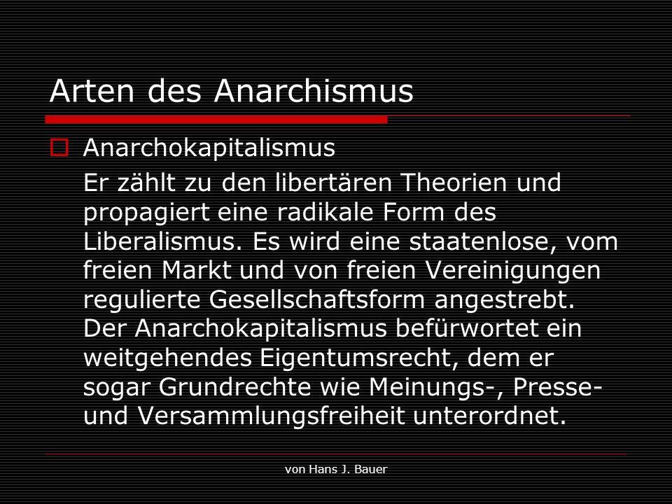 Arten des Anarchismus Anarchokapitalismus