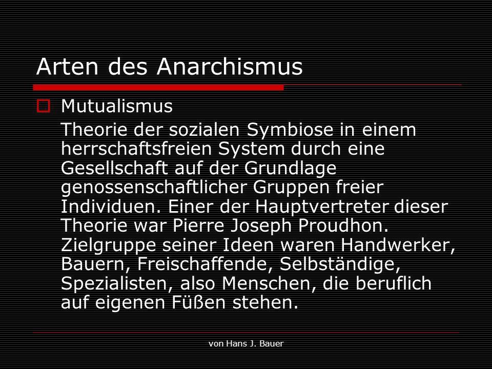 Arten des Anarchismus Mutualismus