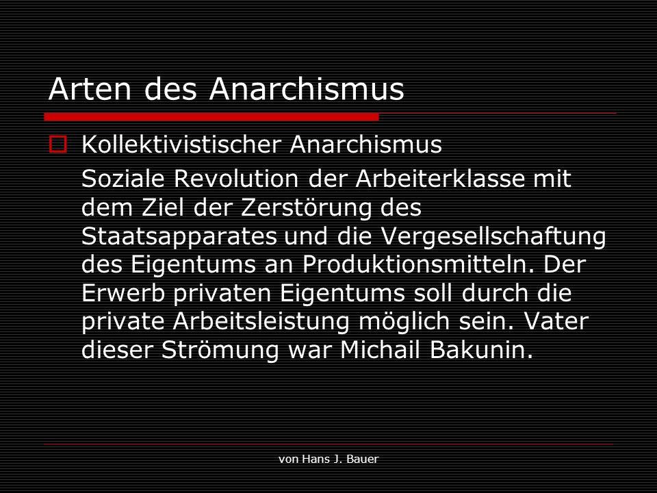Arten des Anarchismus Kollektivistischer Anarchismus