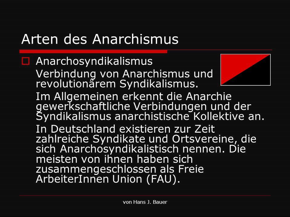 Arten des Anarchismus Anarchosyndikalismus