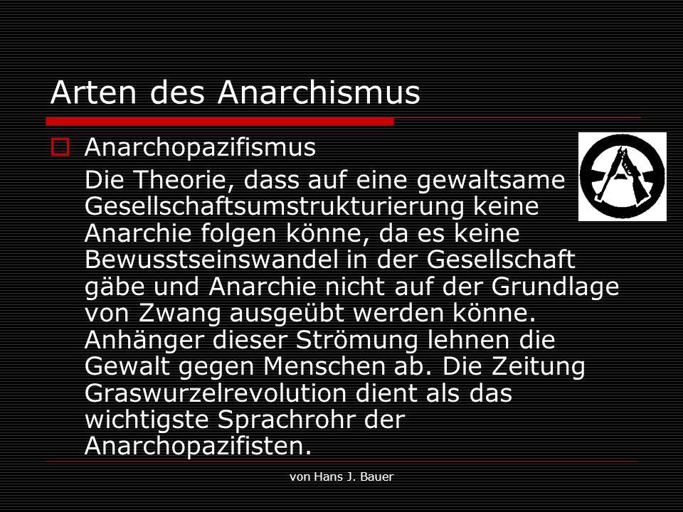 Arten des Anarchismus Anarchopazifismus