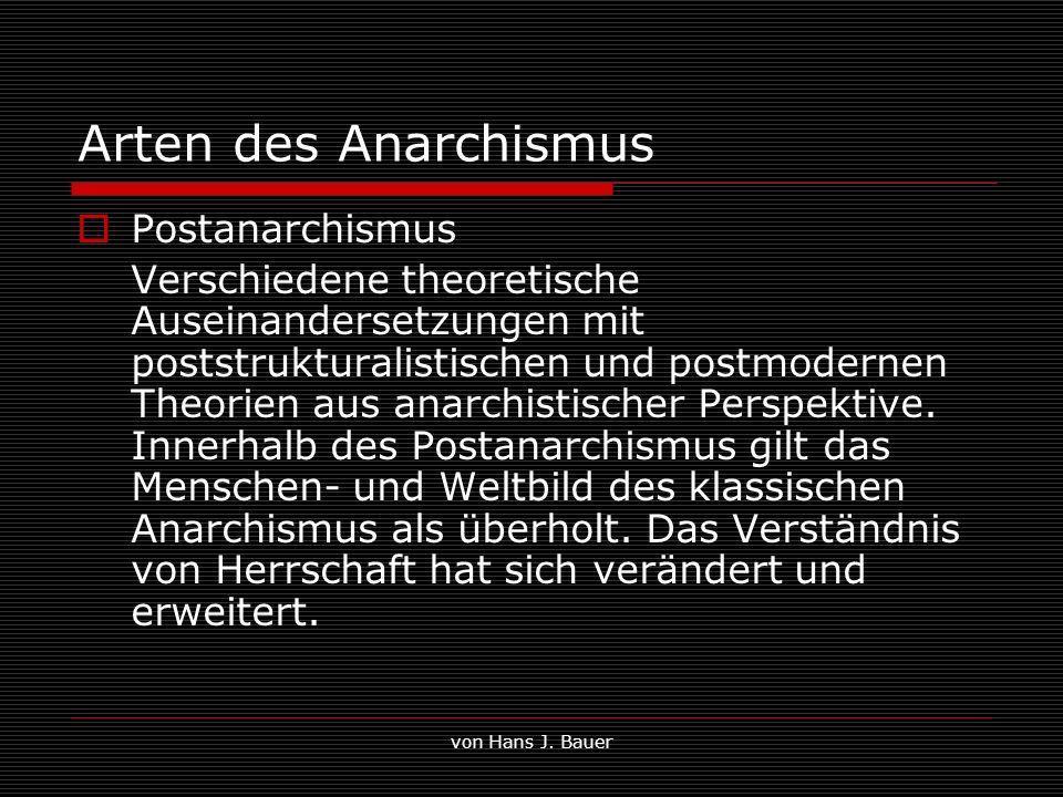 Arten des Anarchismus Postanarchismus