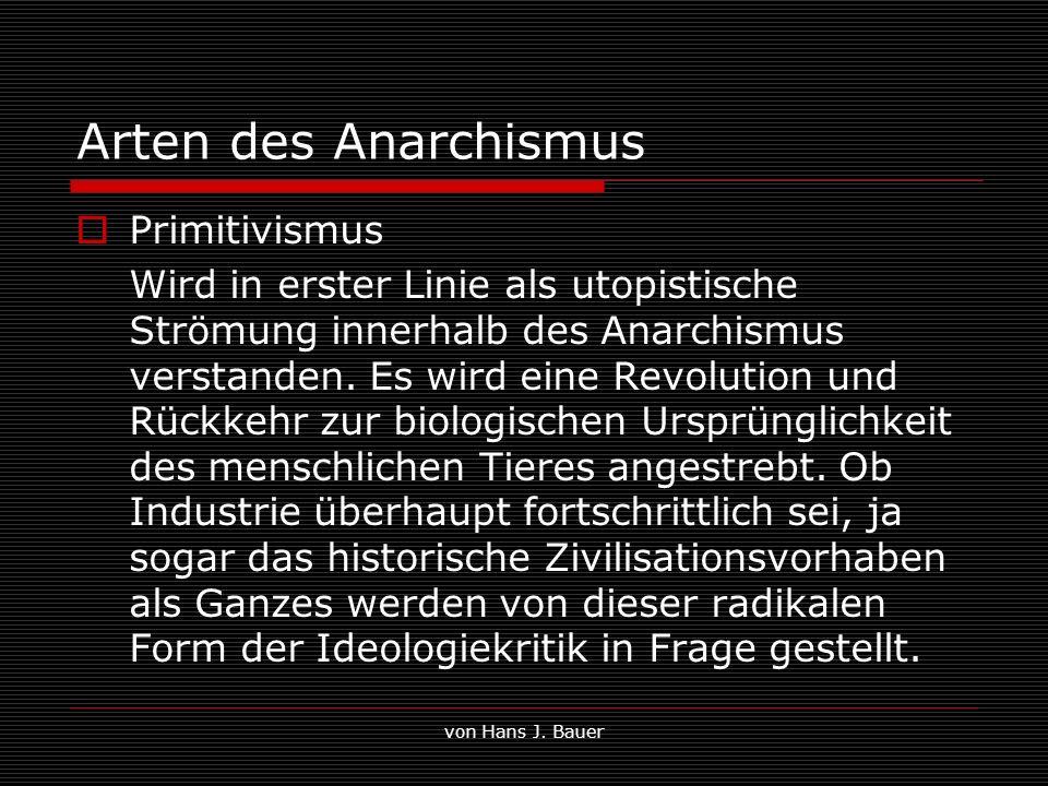 Arten des Anarchismus Primitivismus