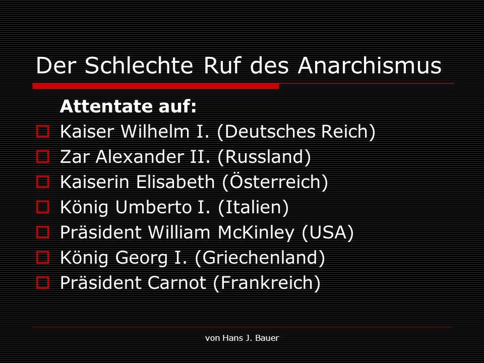 Der Schlechte Ruf des Anarchismus