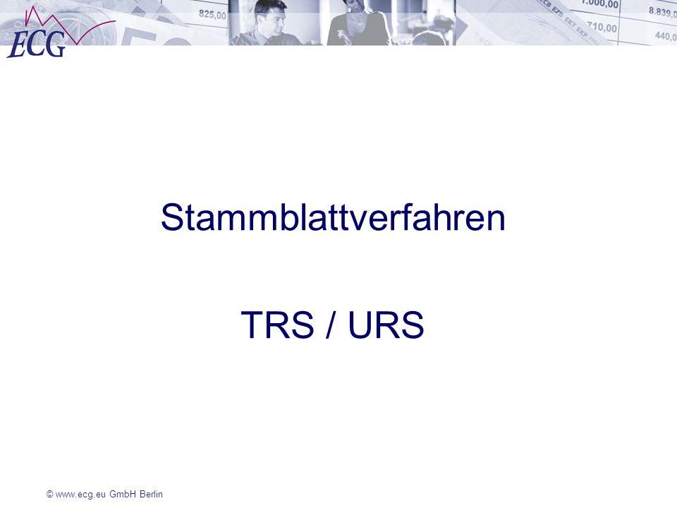 Stammblattverfahren TRS / URS