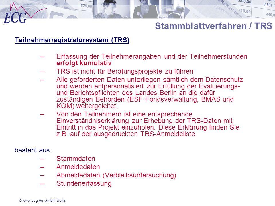 Stammblattverfahren / TRS