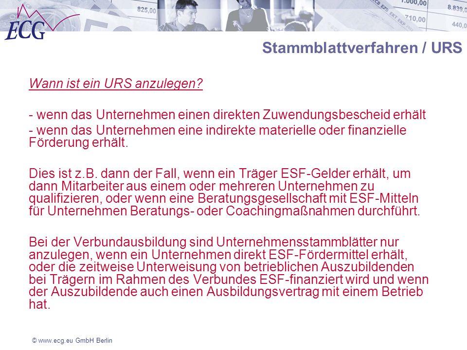Stammblattverfahren / URS