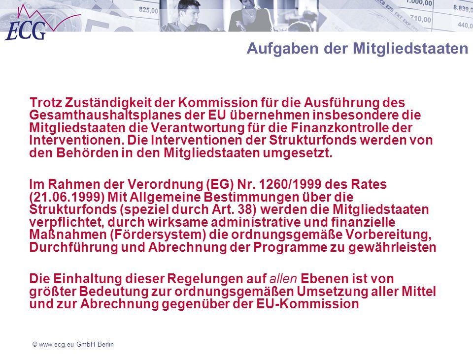 Aufgaben der Mitgliedstaaten