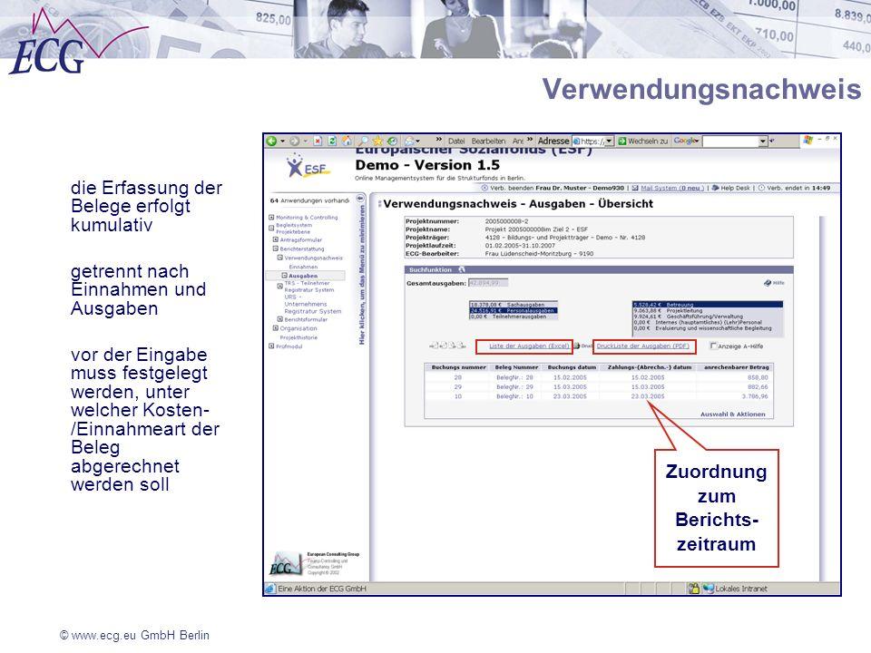 Zuordnung zum Berichts-zeitraum