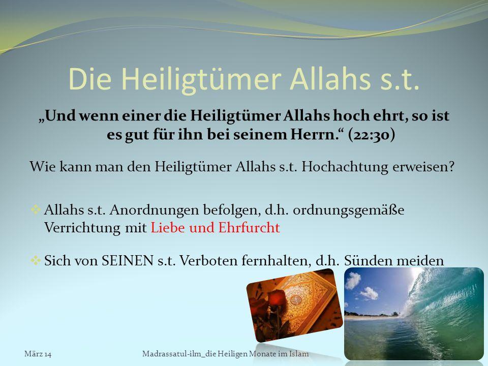 Die Heiligtümer Allahs s.t.