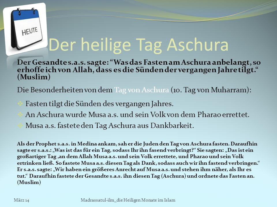 Der heilige Tag Aschura