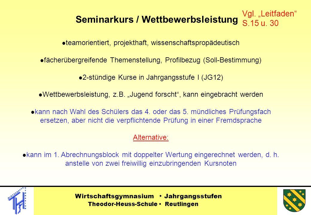 Seminarkurs / Wettbewerbsleistung