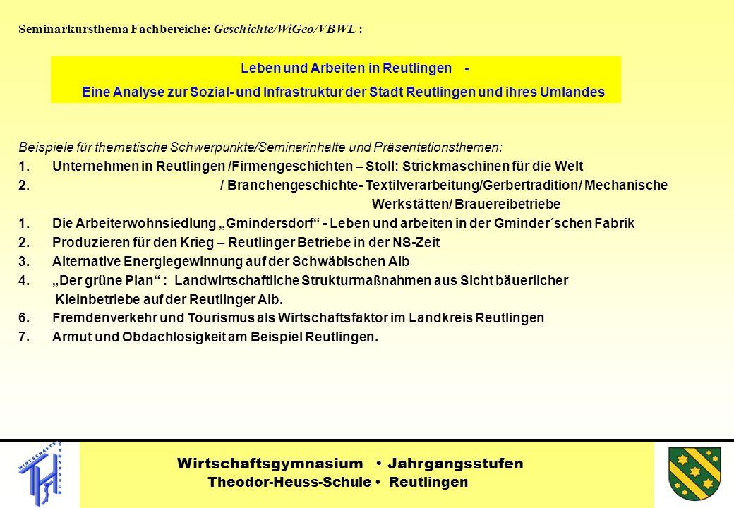 Leben und Arbeiten in Reutlingen -