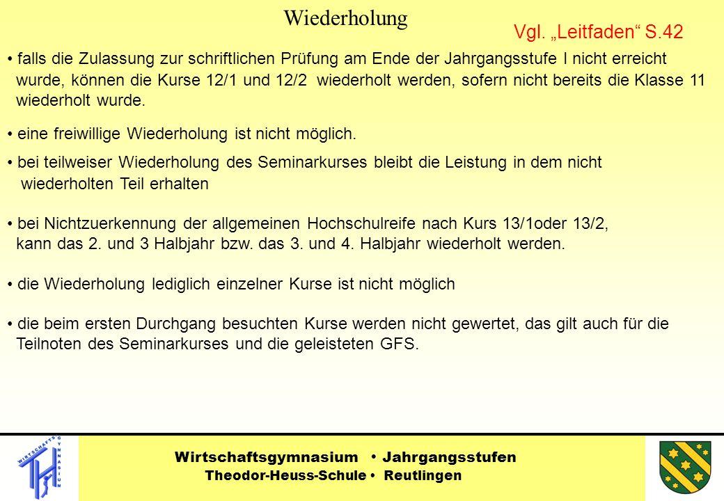 """Wiederholung Vgl. """"Leitfaden S.42"""