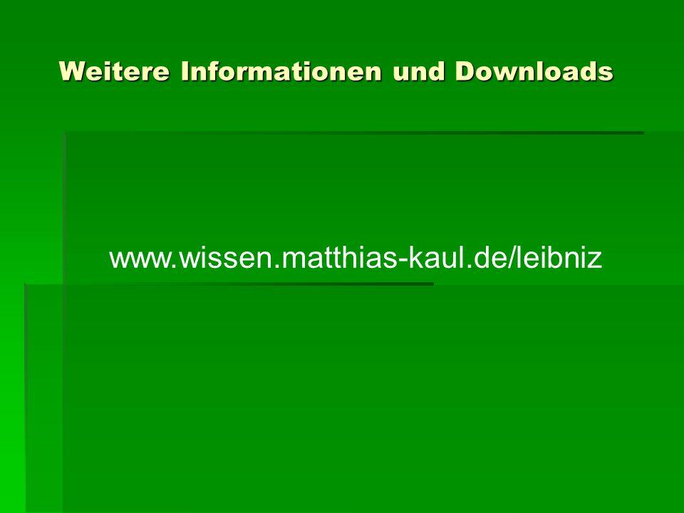 Weitere Informationen und Downloads