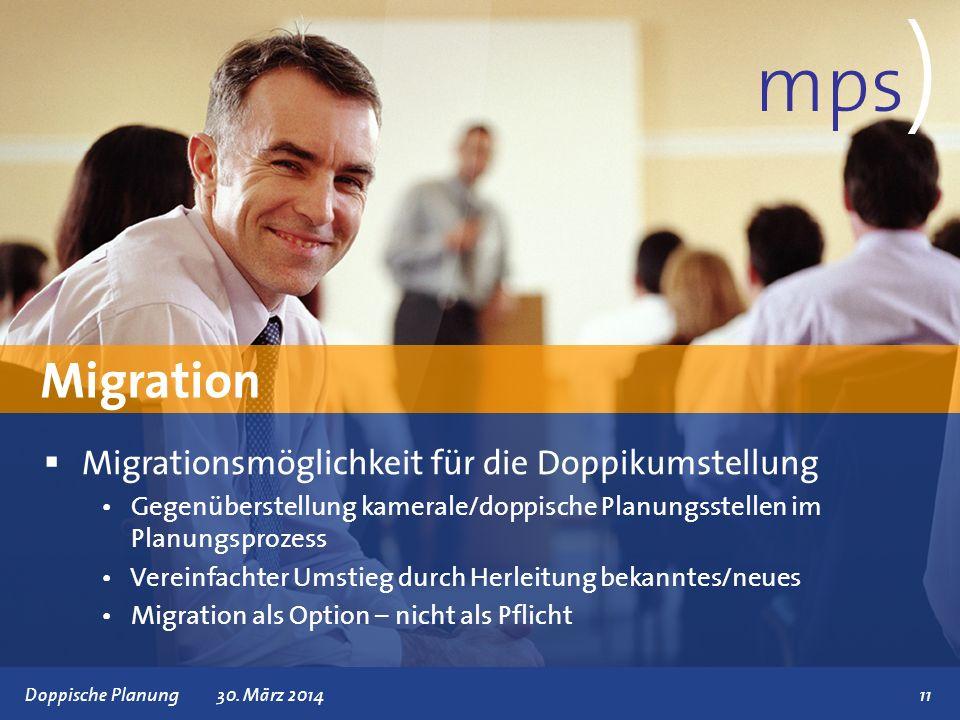 mps) Migration Migrationsmöglichkeit für die Doppikumstellung
